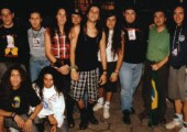 1993 1 De Maio Viper E Equipe No Backstage O Primeiro Dos Dois Shows Em Que A Banda Abriu Para O Metallica No Estádio Do Parque Antártica